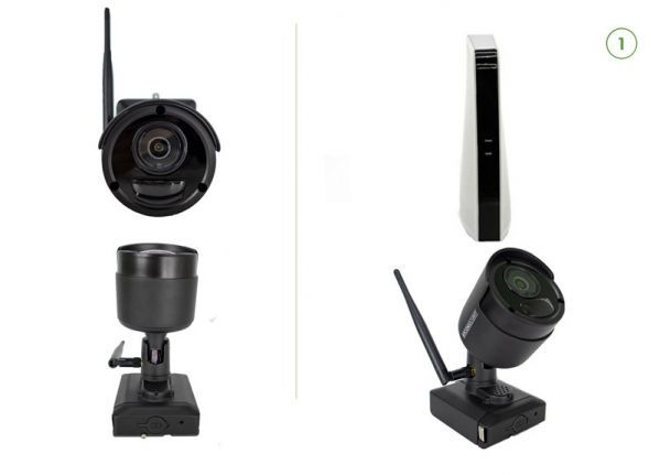Cable-free security camera set (A) EASY 1