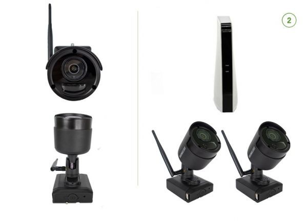 Cable-free security camera set EASY 2
