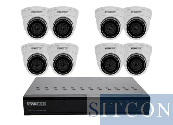 Dome security camera set EASY 8