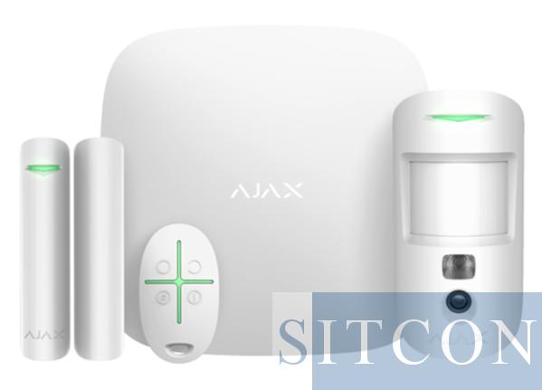 Wireless alarm system with PIR camera White SMART