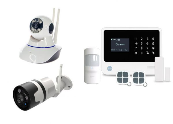 Alarm system Pro A + 1x outdoor IP camera & 1x IP PTZ camera