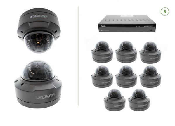 Dome security camera set SMART 8