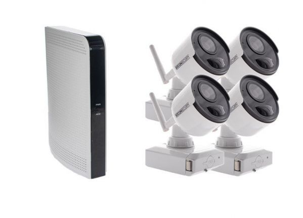 Cable-free security camera set (B) EASY 4