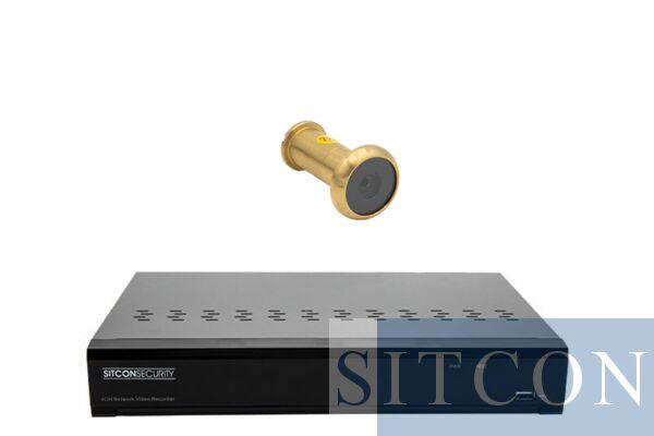 Door spy camera set