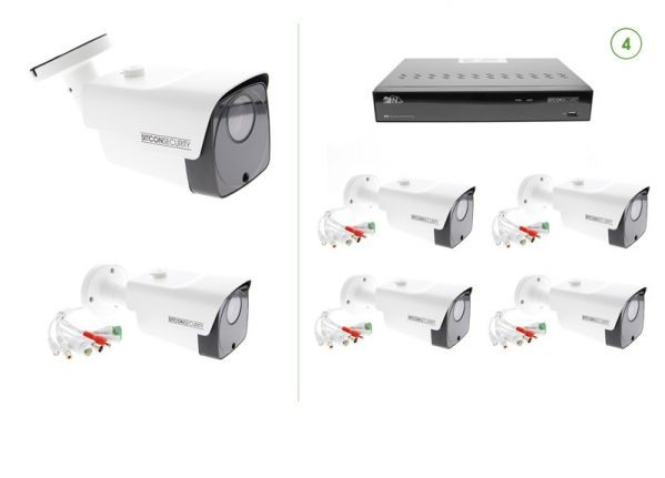 Bullet security camera set PLUS 4
