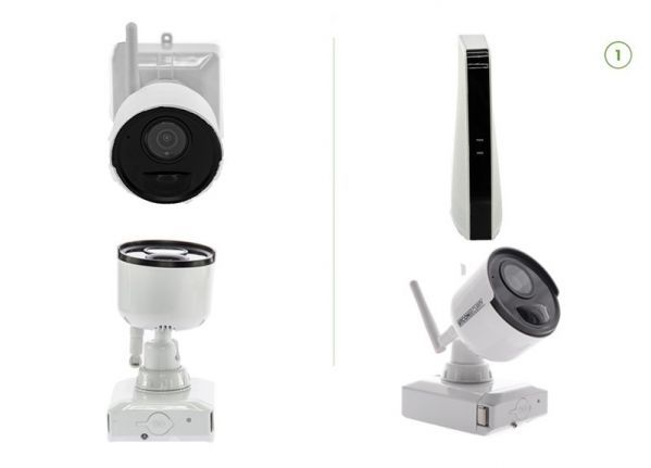 Cable-free security camera set (B) EASY 1