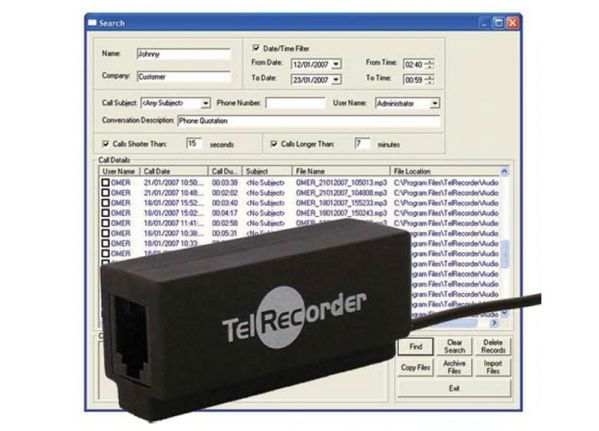 Telephone recorder - Fixed line (A)