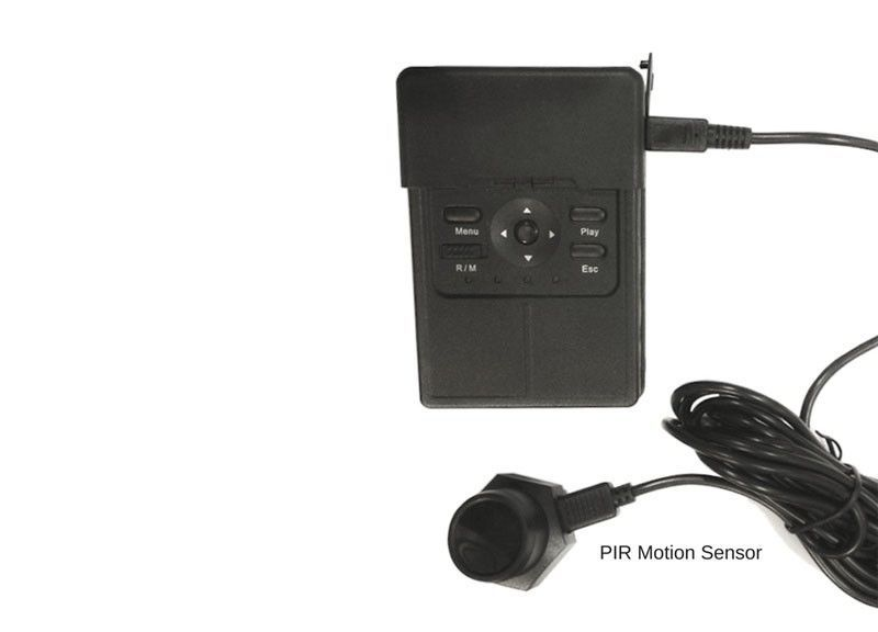 Black box spy camera - External PIR